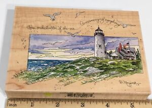 Stamps Happen HIS SYMPHONY D Morgan Wood Rubber Stamp Lighthouse 80207