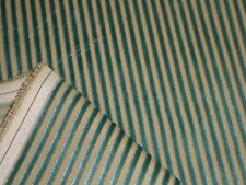 HARLEQUIN - LUCIA in TEAL & NEUTRAL - Striped Velvet Upholstery Fabric