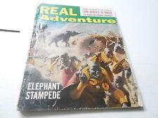 (ABC) JAN 1957 REAL ADVENTURE mens adventure magazine ELEPHANT ATTACK