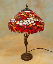 Tiffany Tischlampe Weinlaub Winzer Herbst Tiffanylampe Lampe TE18-a