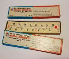 Milton Bradley Company Individual 24 Thermometers #7628 Write On Wipe Off 1966