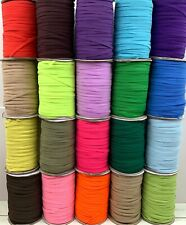 140 yards 6mm Elastic Band 1/4 inch Trim Braided Flat Strap Sewing USA SELLER