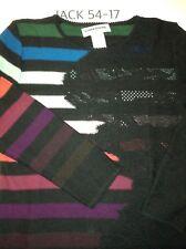 NEUF sans étiquette SONIA RYKIEL PARIS multi-bandes de couleur cachemire laine pull taille 44