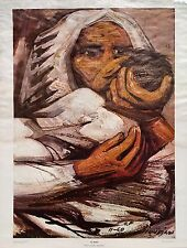 "David Alfaro Siquerios, ""El Beso"", 19.5""hx14""w image, Galeria de Arte Misrachi"