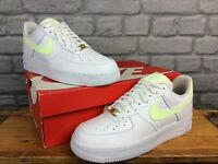 NIKE LADIES UK 6.5 EU 40.5 AIR FORCE 1 07 WHITE BARELY VOLT TRAINERS RRP £80 AD