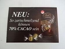 Werbung Lindt - so zart - 70 % Cacao sein - 15 x 10,5 cm