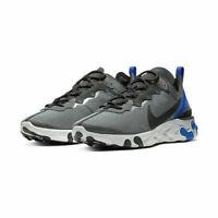 Nike React Element 55 SE Running Shoes Black Blue White CI3831-003 Men's NEW