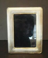 "Vintage Sterling Silver Photo Frame for 6' x 4"" Picture Italy 925 Mark Gilt"