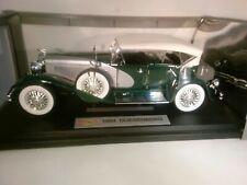 NEW RARE !! 1934 Duesenberg by Fairfield Mint.  Model: 1:18 NIB.  Green & Silver