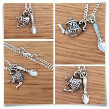 *Alice in Wonderland* Mini Tea time Teapot necklace