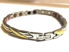 Authentic Negative Ion Effect Bracelet women's GOLD W/SILVER  balance