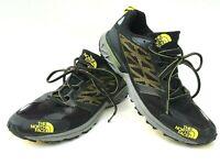 North Face Single-Track Hayasa Men's Size 8 Black Yellow Running Training Shoe