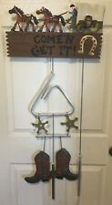 Western Boots, Spurs, Horse & Buggy Dinner Bell
