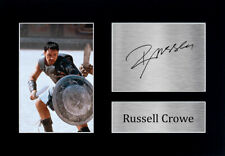 Russell Crowe Signed Pre Printed Autograph A4 Photo Gift For a Gladiator Fan