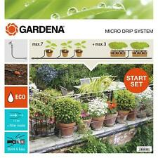 GARDENA Micro-Drip-System Start-Set Pflanztöpfe M + Automatik 13002-20