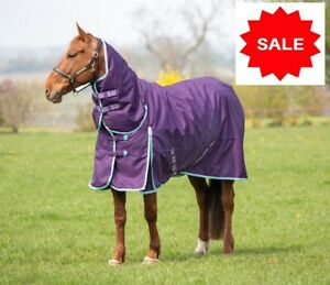 SALE  Bridleway Ontario Combo Neck Waterproof Turnout Horse Rug 220g Medium 6ft3