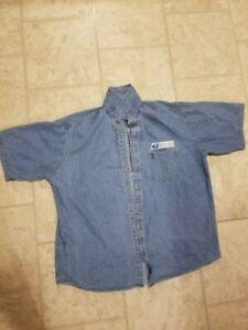Vintage United States Postal Service Button Up Denim Uniform Shirt Men's XL / EX