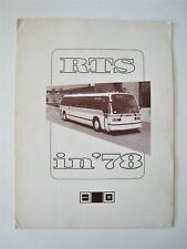 Vintage 1978 GMC General Motors Bus Folder RTS in '78