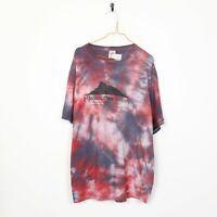 Vintage Tie Dye Graphic T Shirt Tee Big Logo Red | 2XL