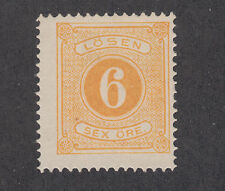Sweden Sc J4 Mlh. 1874 6ö yellow Postage Due, nice color