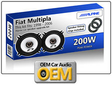 FIAT MULTIPLA PORTA POSTERIORE SPEAKER Alpine altoparlante auto kit con Adapter