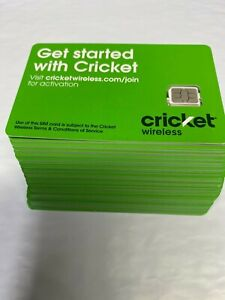 LOT of 100 New Cricket 4G LTE 5G  Newest  Nano Sim Card Good For Activation NANO