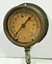 Large 5 Old Vintage Ashcroft Gauge 0 60 Steampunk Pressure Feet Of Water