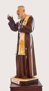 Statua di Padre Pio 90cm, resina polvere di marmo. Made in ITALY