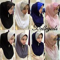 One Piece al Amira Hijab Cotton Abaya Scarf pull on ready made instant muslim