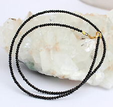 Spinel Necklace Gemstone Necklace Faceted Black Necklace 21 Carat Sehr-Fein New
