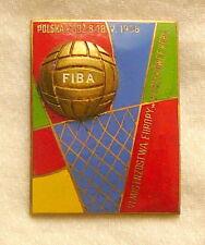 1958 FIBA European BASKETBALL Championships PIN BADGE EuroBasket Woman LODZ