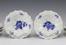 7pc Royal Copenhagen Blue Flower Angular Footed Ciotola Dish Hand painted