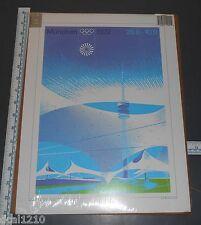 "1972 MUNCHEN OLYMPICS POSTER NOS 1996 ATLANTA OLYMPIC SOUVENIR 12"" X 16"""