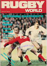 RUGBY WORLD MAGAZINE FEBRUARY 1981 - PERFECT GIFT FOR A FAN BORN IN THIS MONTH