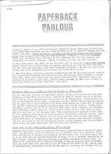 1979 UK Science Fiction fanzine PAPERBACK PARLOUR