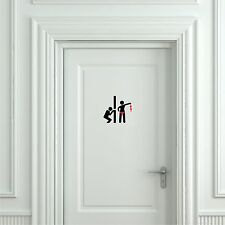 Funny Toilet Peek Sign Sticker - Door Sticker Bathroom Door Sign