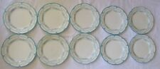 ANTIQUE 1895 CAULDON ENGLAND BLUE AND WHITE LUNCHEON PLATES - SET OF 10