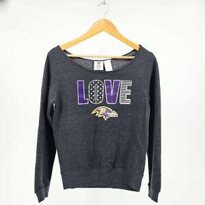 NFL Team Apparel Baltimore Ravens Sweatshirt Girls XL 14/16 NWT Off The Shoulder