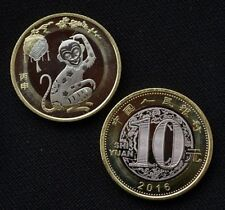 China Coin-2016-1-10Yuan Year ofRooster monkey Coin-Zodiac-UNC-Series2