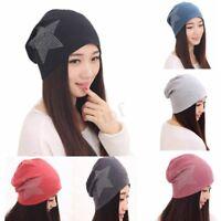 Women Winter Cotton Ski Oversized Slouch Cap Beanie Beret Hats Baggy Star Caps