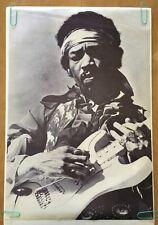 Vintage Poster Jimi Hendrix 1970's Music Memorabilia Pin-Up Guitar Legend Promo