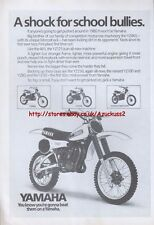 "Yamaha YZ125 ""A Shock For School Bullies"" 1980 Magazine Advert #3712"