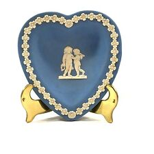 Wedgwood Jasperware Playing Card Collection Pale Blue Heart Shaped Pin Tray
