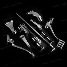 Chrome Forward Controls FootPegs Levers Linkages For 04-13 Harley XL 883 1200