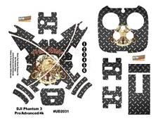DJI Phantom 3 Professional Advanced 4K Decal Skin Wrap Vinyl Eagle Diamond Metal