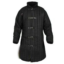 Medieval Gambeson Black Thick padded Jacket COSTUMES DRESS SCA