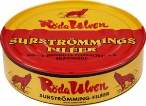 RÖDA ULVEN Surströmming Fileer 440g/300g Fisch Dose (fermentierte Heringsfilets)