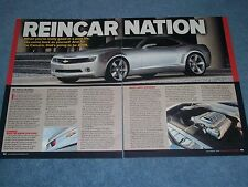"""2006 Chevy Camaro Concept Article """"Reincarnation"""" 5th Generation 2010"""