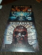 Testament set of 3 colored vinyl Demonic Gathering Dark Roots of Earth 1000 only