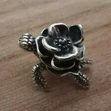 Turtle Rose Unique Pretty 925 Sterling Silver Charm Bracelet Gift Troll Bead